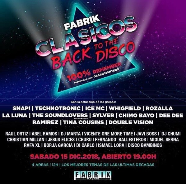 @Madrid at Fabrik Clasicos Back To Disco 2018