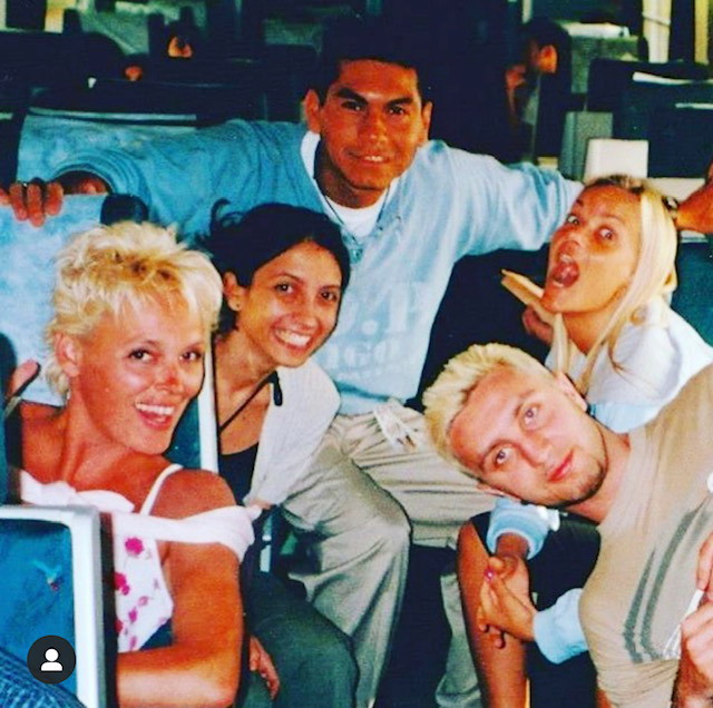 @Spain With Brigitte Nielsen in the train to Valladolid (Spain) 2000